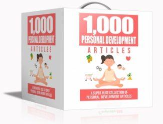 1000 Personal Development PLR Article