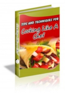 Cooking Like A Chef Plr Ebook