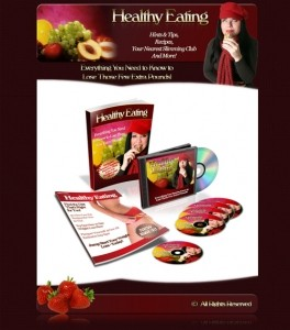 Healthy Eating Minisite, WordPress Theme, PLR EBook Resale Rights Template