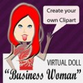Business Woman Virtual Doll Clipart Resale Rights ...