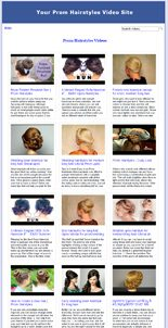 Prom Hairstyles Video Site Builder MRR Software