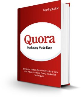 Quora Marketing Made Easy Personal Use Ebook