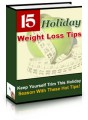 15 Holiday Weight Loss Tips PLR Ebook