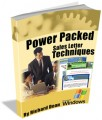Power Packed Sales Letter Techniques Mrr Ebook