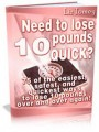 Lose 10 Pounds Quickly PLR Ebook