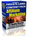 Private Label Article Pack : Affiliate Marketing PLR Article