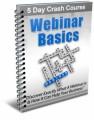 Webinar Basics Crash Course Plr Autoresponder Messages
