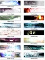 Abstract Header Collection Resale Rights Graphic