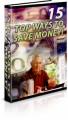 15 Top Ways To Save Money Plr Ebook