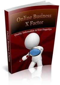 Online Business X Factor PLR Ebook