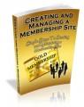Creating And Managing A Membership Site Mrr Ebook