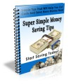 Super Simple Money Saving Tips PLR Autoresponder Messages