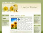 Easter Chick Wordpress Theme MRR Template