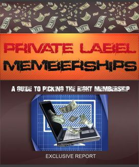 Private Label Memberships Guide MRR Ebook