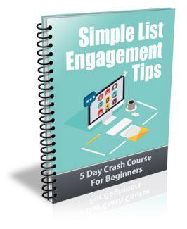 Simple List Engagement Tips PLR Autoresponder Messages