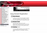 Domain Registration Red Personal Use Template