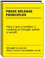 Press Release Principles MRR Ebook