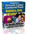 Private Label Article Pack : Hobbies, Arts  Crafts PLR ...