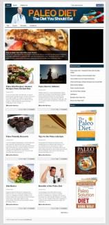 Paleo Diet Plr Niche Blog PLR Template