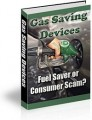 Gas Saving Devices Plr Ebook