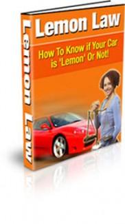 Lemon Law PLR Ebook