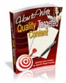 How To Write Quality Targeted Content Mrr Ebook