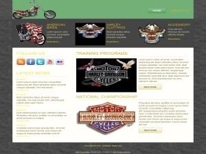 Harley Davidson WordPress Theme Plr Template