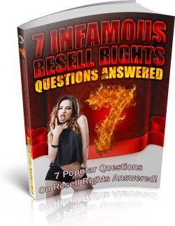 7 Infamous Resell Rights Questions PLR Ebook