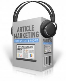Article Marketing For Content And Profit MRR Audio