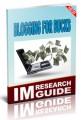 Blogging For Bucks Personal Use Ebook