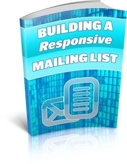 Building A Responsive Mailing List MRR Ebook