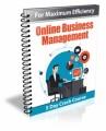Online Business Management Crash Course PLR ...