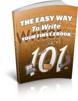 The Easy Way To Write Your First Ebook MRR Ebook