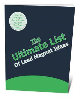 The Ultimate List Of Lead Magnet Ideas PLR Ebook
