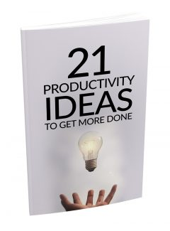 21 Productivity Ideas To Get More Done MRR Ebook With Audio