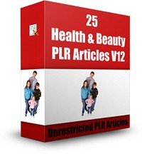 25 Health  Beauty Plr Articles V12 PLR Article