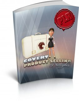Covert Product Selling Principles PLR Ebook