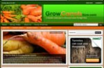 Growing Carrots Blog Personal Use Template