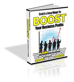 Quick And Easy Ways To Boost Your Business Profits PLR Ebook