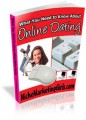 What You Need To Know About Online Dating MRR Ebook