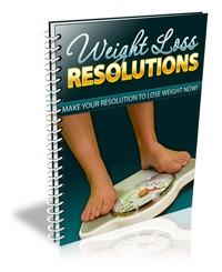 Weight Loss Resolutions PLR Ebook