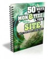 50 Ways To Monetize Your Site Give Away Rights Ebook
