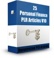 25 Personal Finance Plr Articles V10 PLR Article