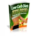 Low Carb Diets Explained Give Away Rights Ebook