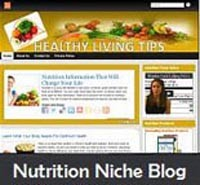 Nutrition Niche Blog Personal Use Template
