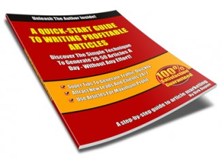 A Quick-Start Guide To Writing Profitable Articles Resale Rights Ebook
