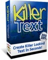 Killer Text Personal Use Graphic