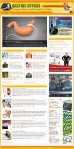 Gastric Bypass Health Niche Blog Plr Template