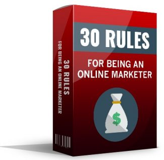 30 Rules For Being An Online Marketer Giveaway Rights Ebook