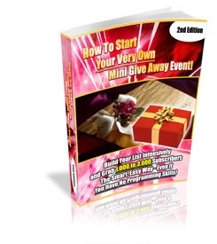 How To Start Your Own Mini Giveaway Event! Mrr Ebook